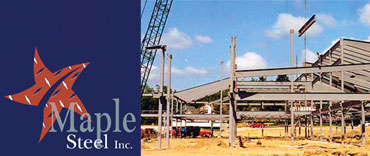 Commercial Building Frame Construction Site